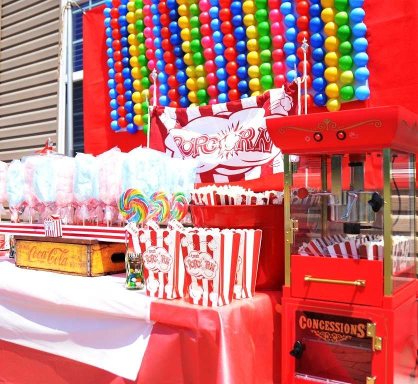 Backyard Carnival With Vintage Twist Birthday Party Ideas