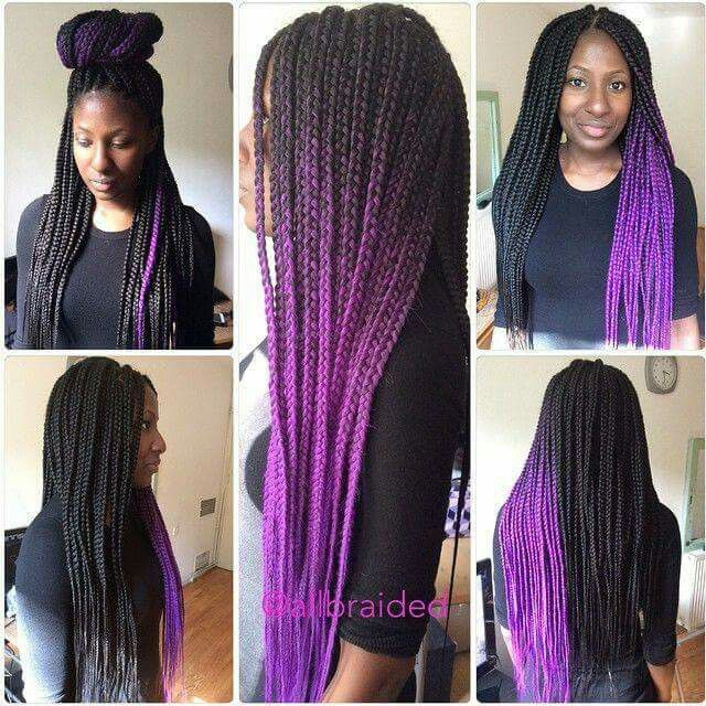 38++ Box braids with color tips inspirations