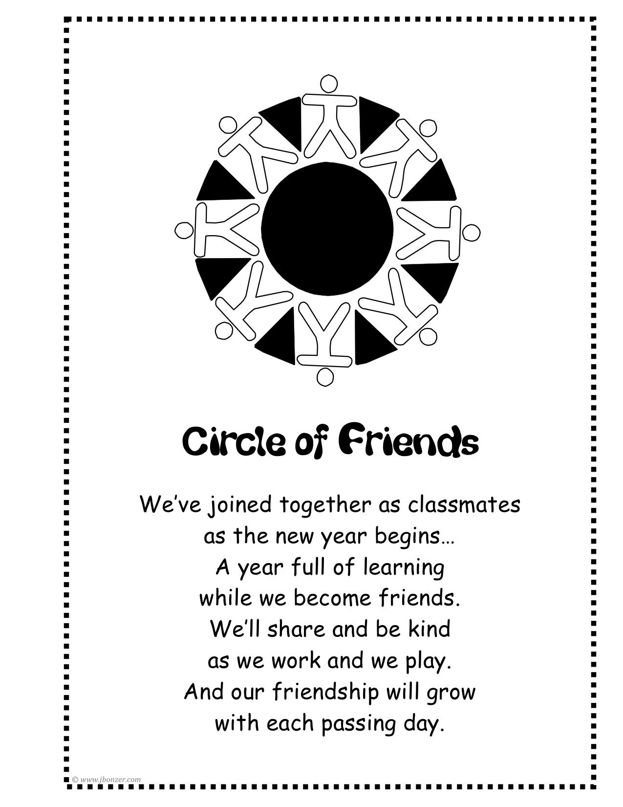 Circle Of Friends Poem