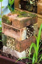 Photo of Insect Hotel laget av murstein og bambus, via gapphotos.com Delt fra Green Reha …
