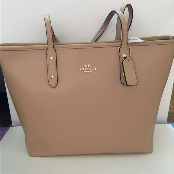 f4637ef5a7 Coach city zip tote nude Authenic brand new with tag. Nude color. Coach  Bags Totes