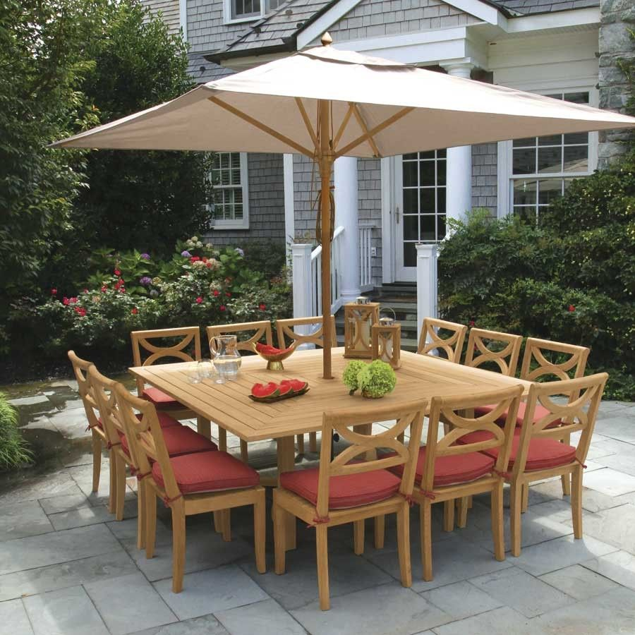Teak Outdoor Dining Tables Fiori 6 Ft Square Table Country