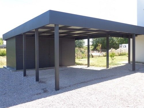carport aluminium concept construit et installe des carports en aluminium de kiosko. Black Bedroom Furniture Sets. Home Design Ideas