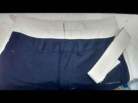 Armado de Pretina de Pantalon de Varon.... - YouTube