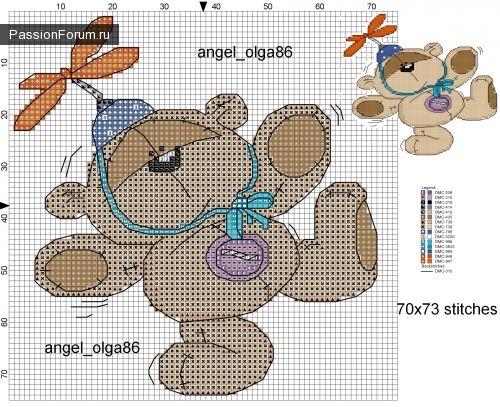 Схемы с мишками Tatty Teddy и его друзьями ВКонтакте