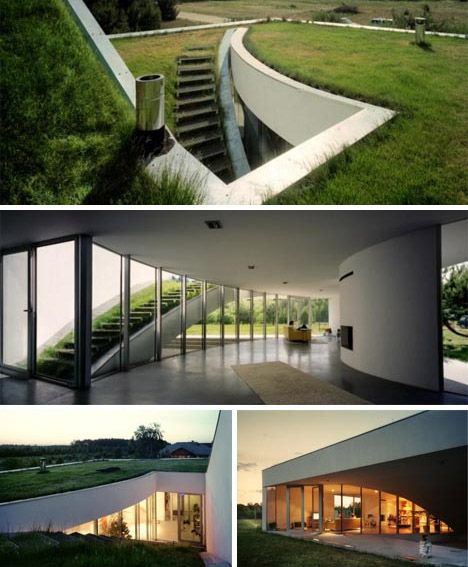 Sustainable Style 12 Contemporary Green Home Designs Webecoist Green House Design Underground Homes Green Architecture