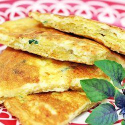 Tortilla de batata frita e queijo coalho