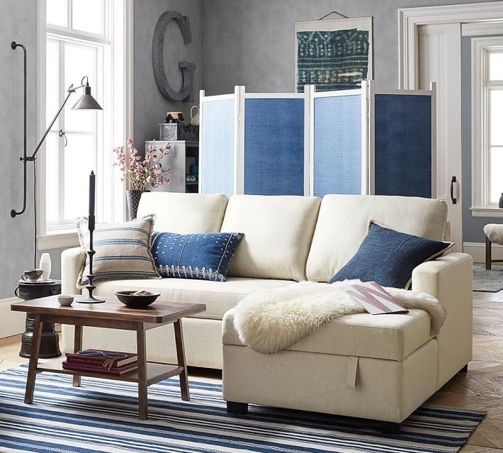 Pottery Barn Finally Launched The Small Space Collection We Ve Been Waiting For Couches For Small Spaces Small Space Living Small Living Rooms