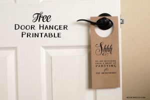 Beautiful Free Wedding Door Hanger Printable. Make Your Own Door Hanger For Your  Wedding Guests!
