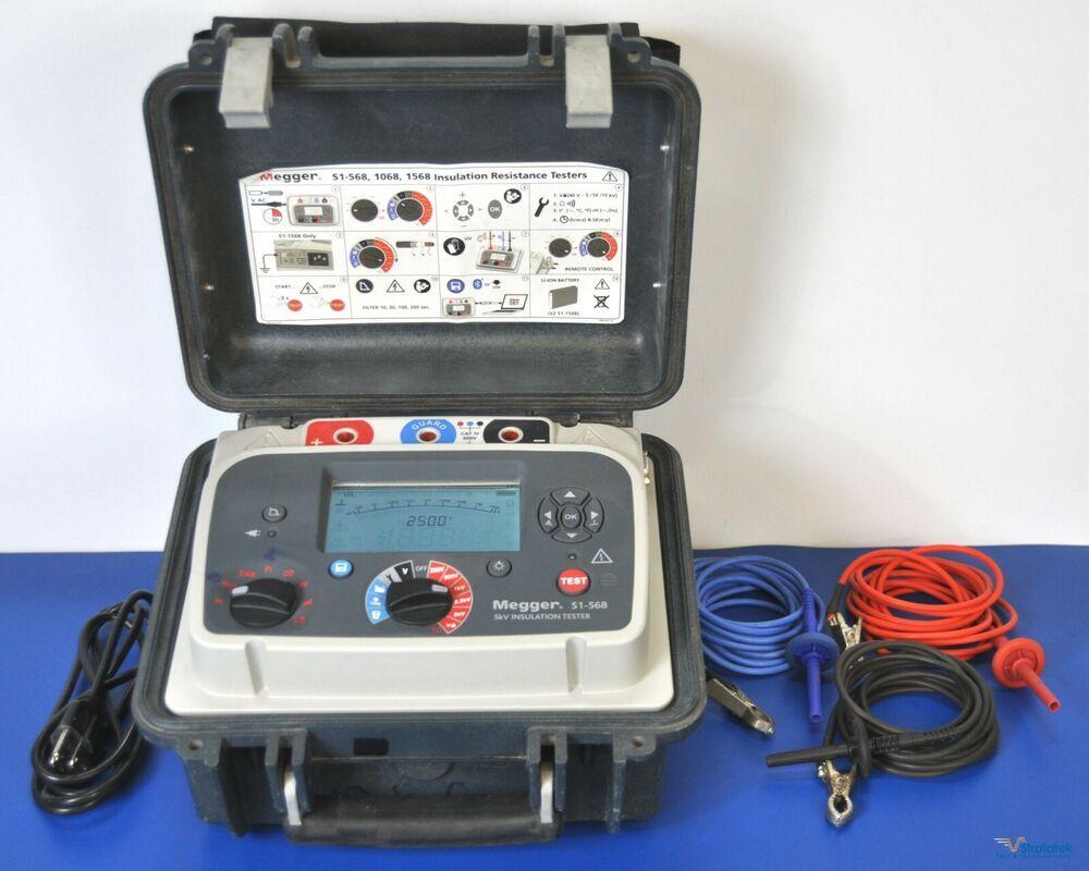Megger S1 568 5kv Insulation Tester Megohmmeter Nist Calibrated With Warranty Megger In 2020 Tester Insulation Warranty