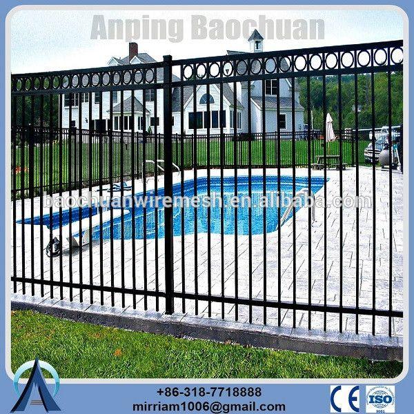 utiliza casa jardn durabilidad house hermosa blanco galvanizado cercas hierro forjado para la venta