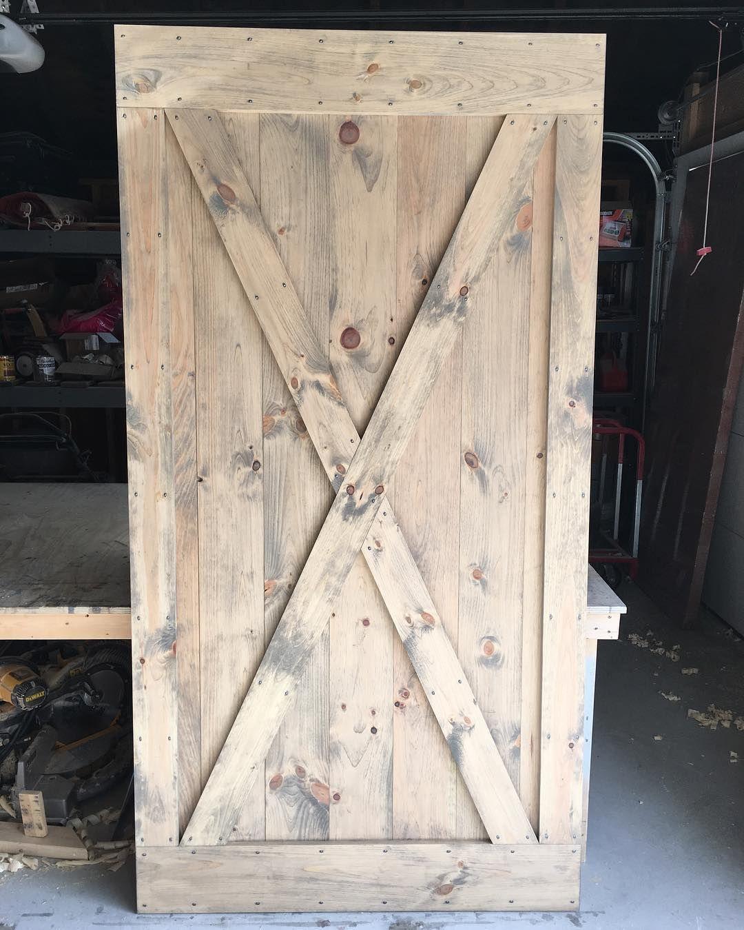 Instagram Photo By Rusticroo Designs Apr 12 2016 At 4 03pm Utc Custom Barn Doors Knotty Pine Doors Barn Door