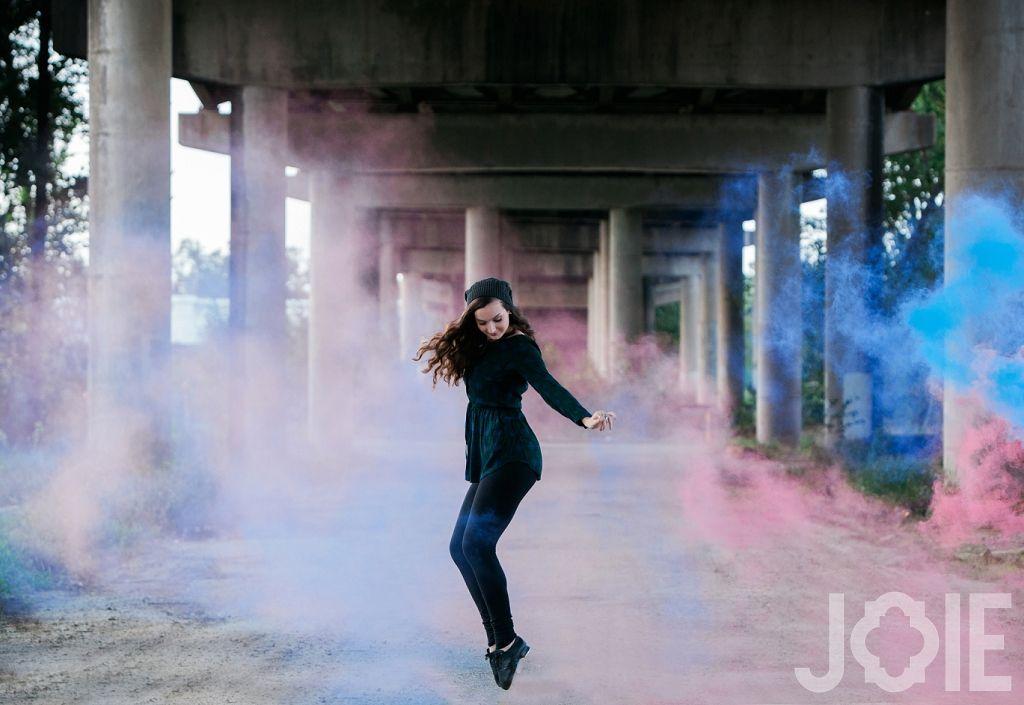 Smoke bomb tap dancer senior pictures htx Houston texas Urban ...