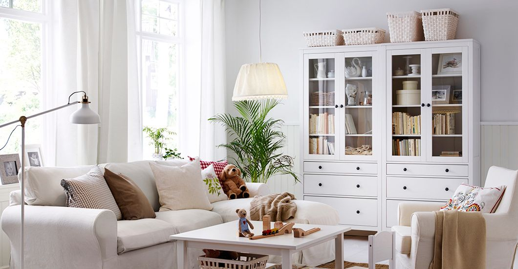 Wohnzimmer Ikea Inspiration : Ikea hemnes interior glass doors and