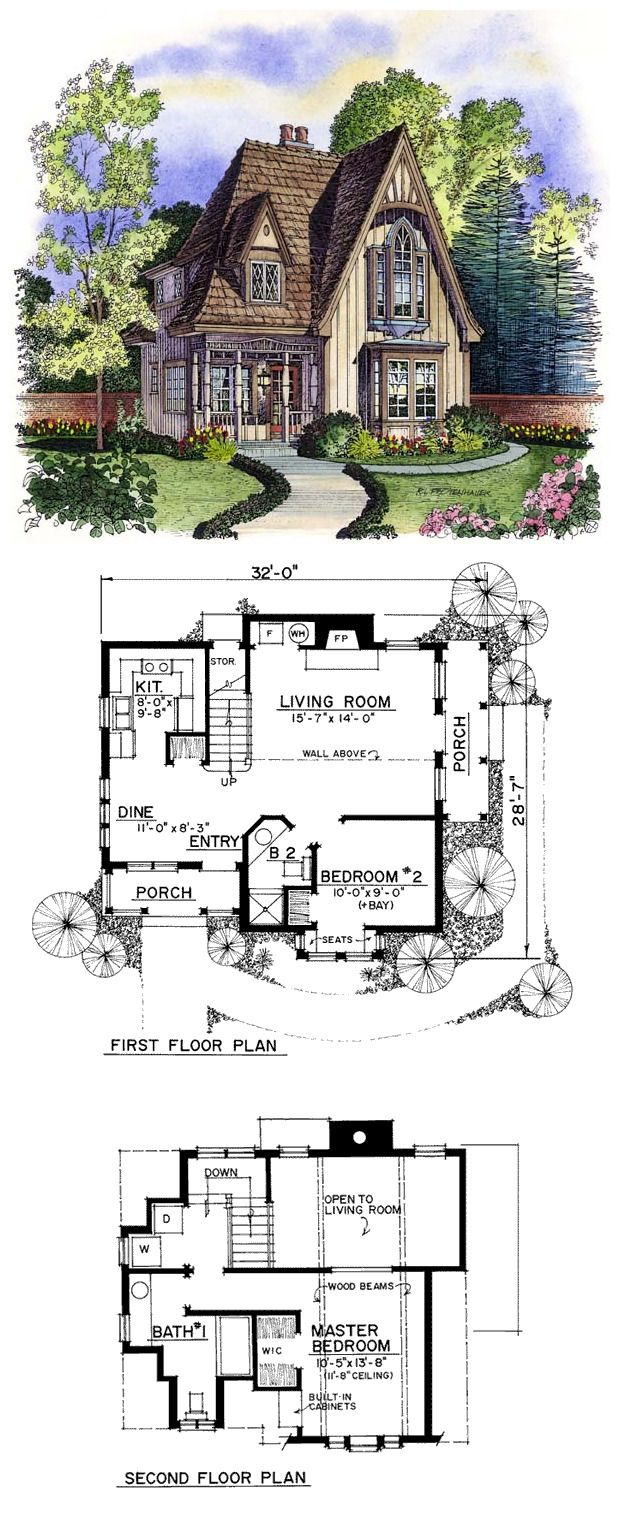 Victorian Style House Plan 86000 With 2 Bed 2 Bath Victorian House Plans Gothic House House Plans