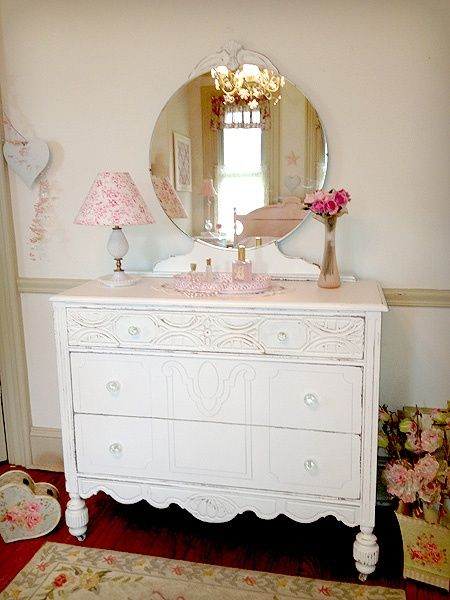 Antique Dressers With Round Mirrors 1920 S White Dresser Mirror