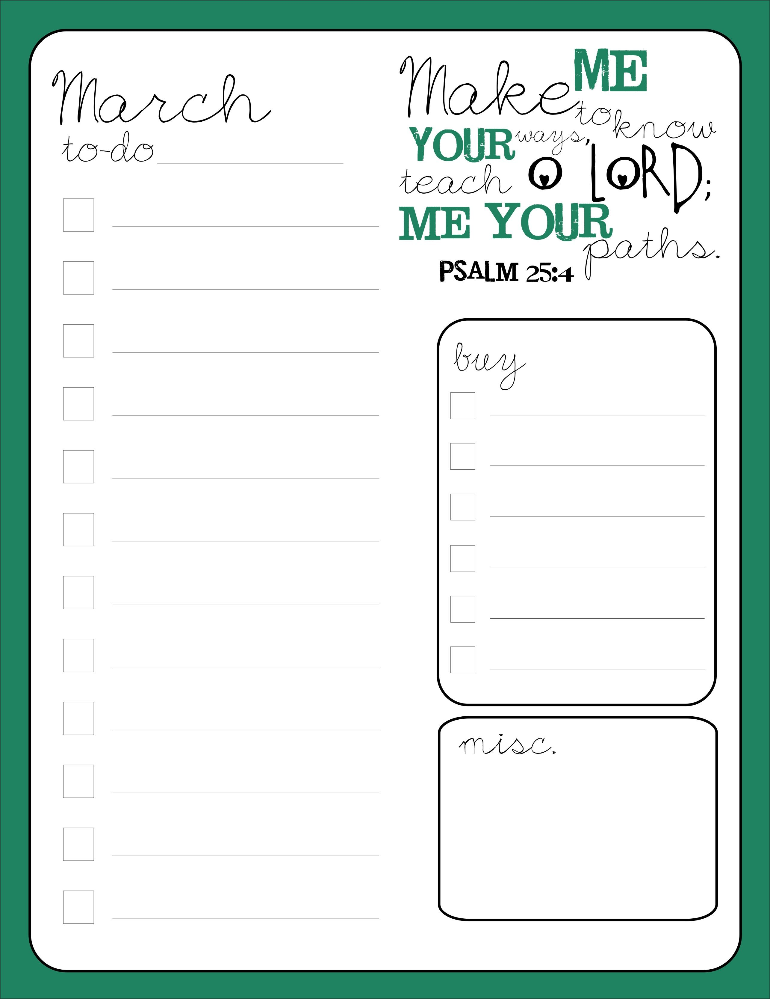 March printable to do list with memory verse printable through march printable to do list with memory verse printable through scribd http fandeluxe Gallery