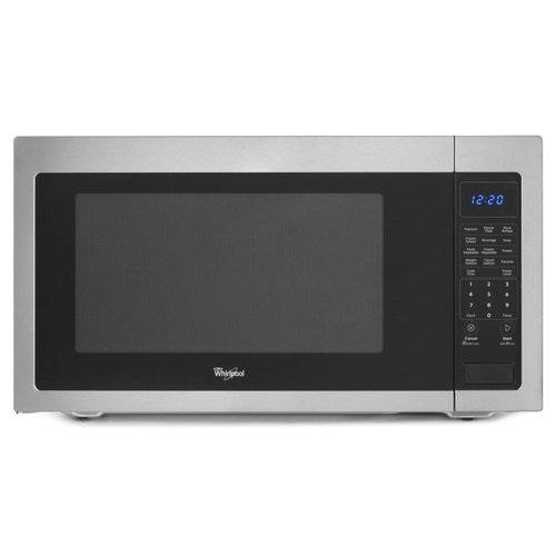 Whirlpool Wwmc50522as Countertop Microwave Black On Stainless At Ferguson Com Countertop Microwave Stainless Steel Countertops Stainless Steel Microwave