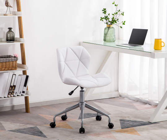 Just Home White Grid Chair With Spider Base Big Lots White Desk Chair Bedroom Desk Chair Cheap Desk Chairs