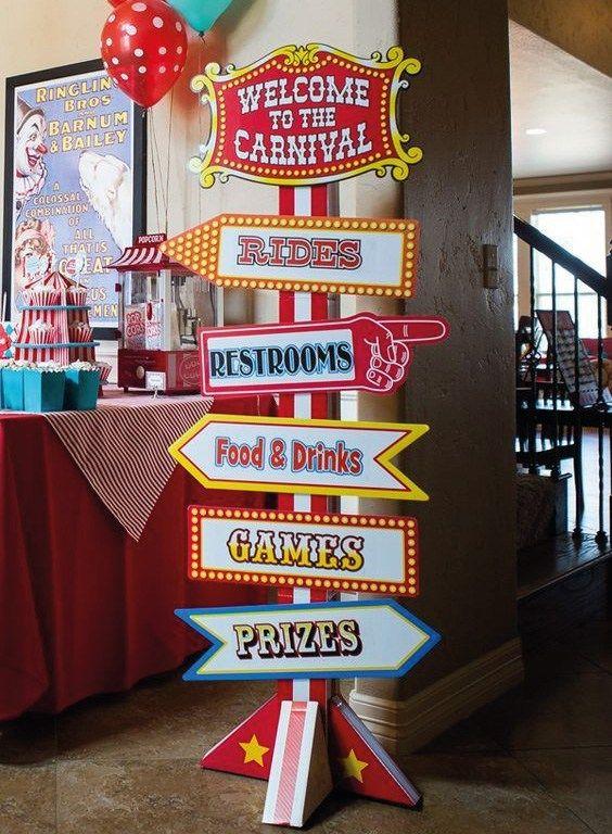 Divertidas ideas para fiestas de circo carnival - Ideas divertidas para fiestas ...