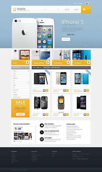 Template 49497 - Mobile Shop Responsive PrestaShop Theme   Ecommerce ...