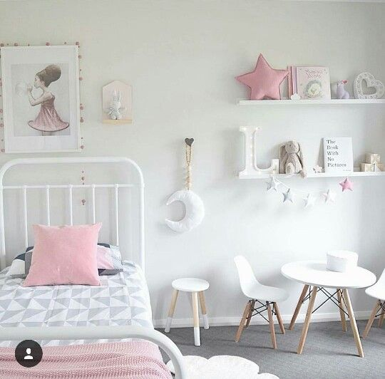 Girl bedroom decoration nordic style habitacion ni a - Dormitorios infantiles nordicos ...
