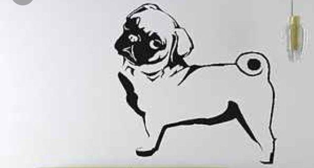 Pin by Tara Clark on Art Pug wallpaper, Wall wallpaper, Pugs