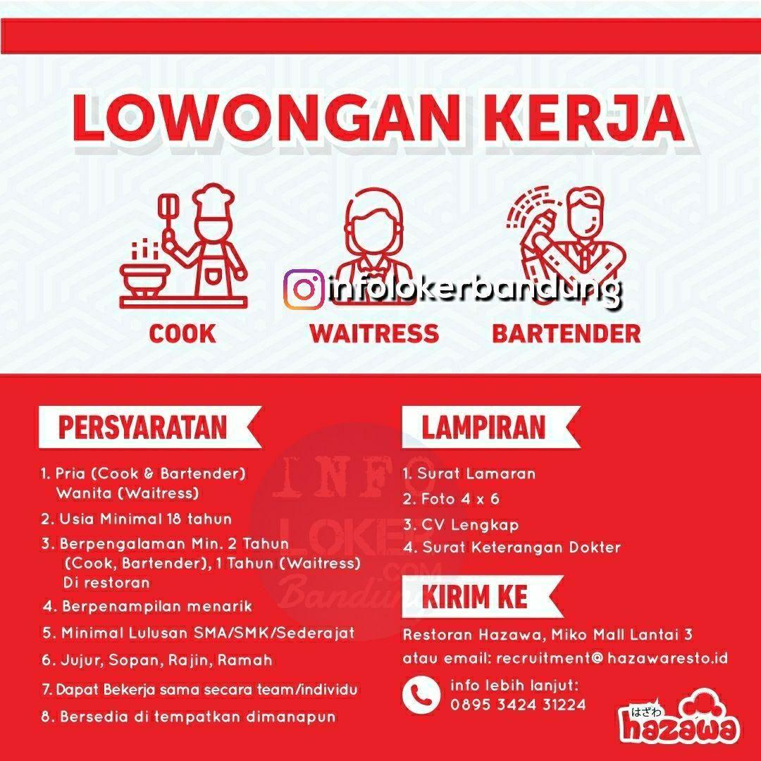 Lowongan Kerja Hazawa Resto Bandung Juli 2018 Kerja Bartender Restoran