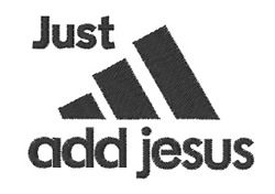 Windmill Designs Embroidery Design: Just Add Jesus 1.80 inches H x 2.51 inches W