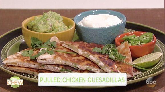 Pulled Chicken Quesadillas Recipe | The Chew - ABC.com