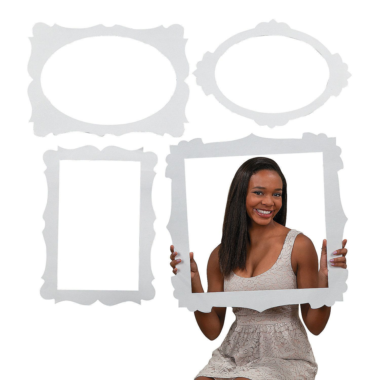 Picture Frame Cutouts | Photo booth, Bridal showers and Bridal showers