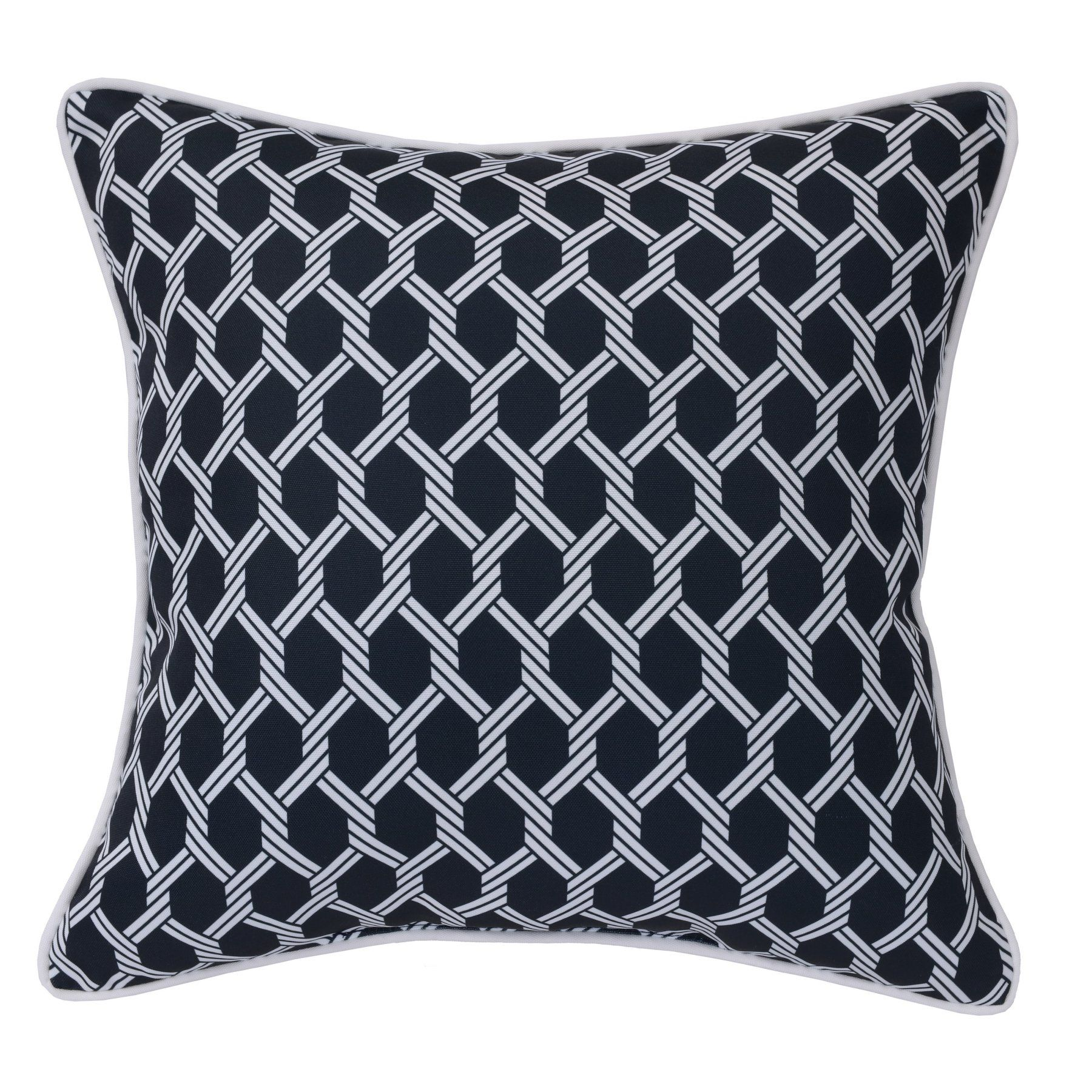 Outdoor Decor Basketweave Decorative Outdoor Throw Pillow  758101818609