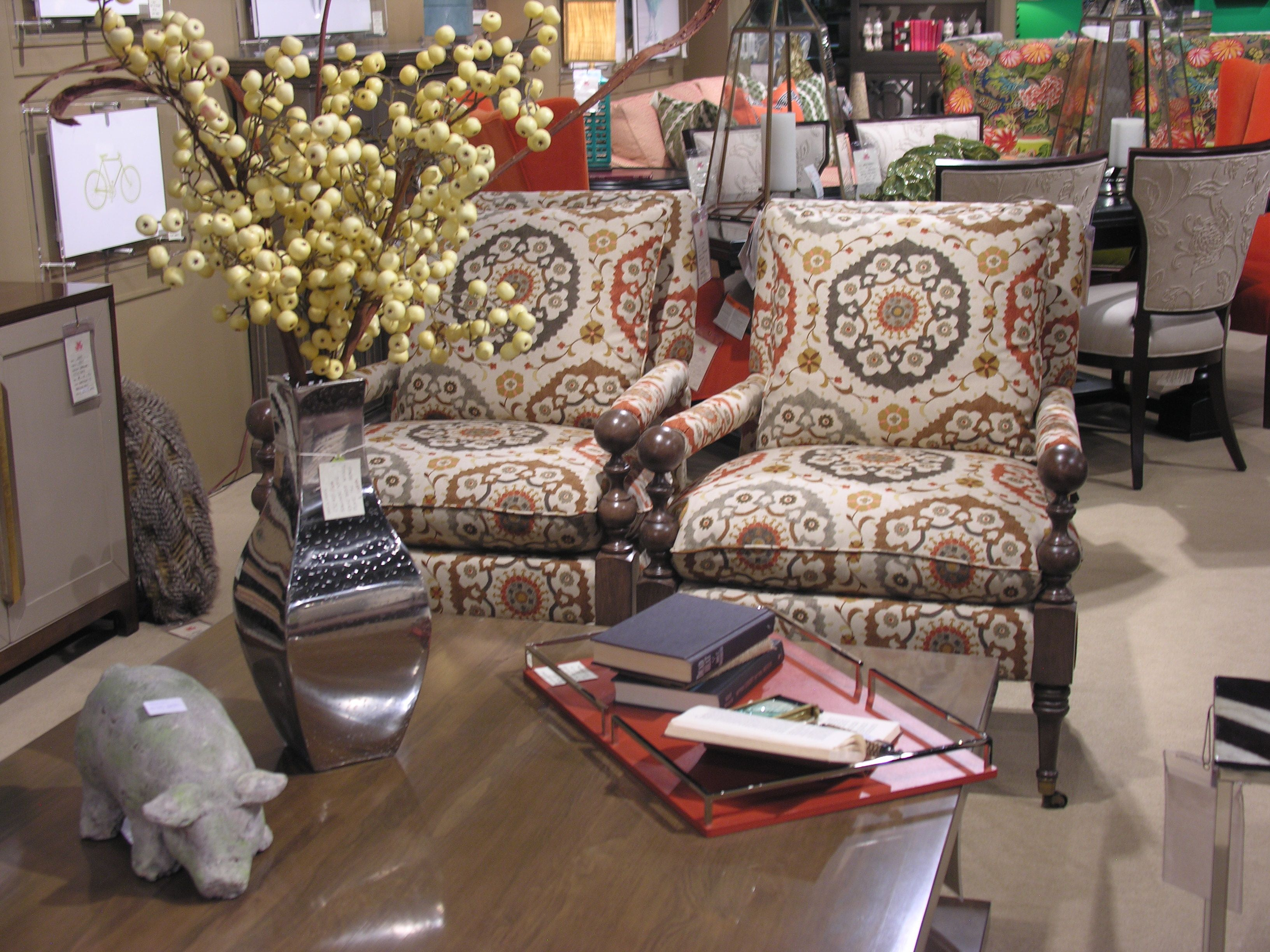 Cr Laine S Bradstreet Chairs In Fabric Owsler Spice Via Our