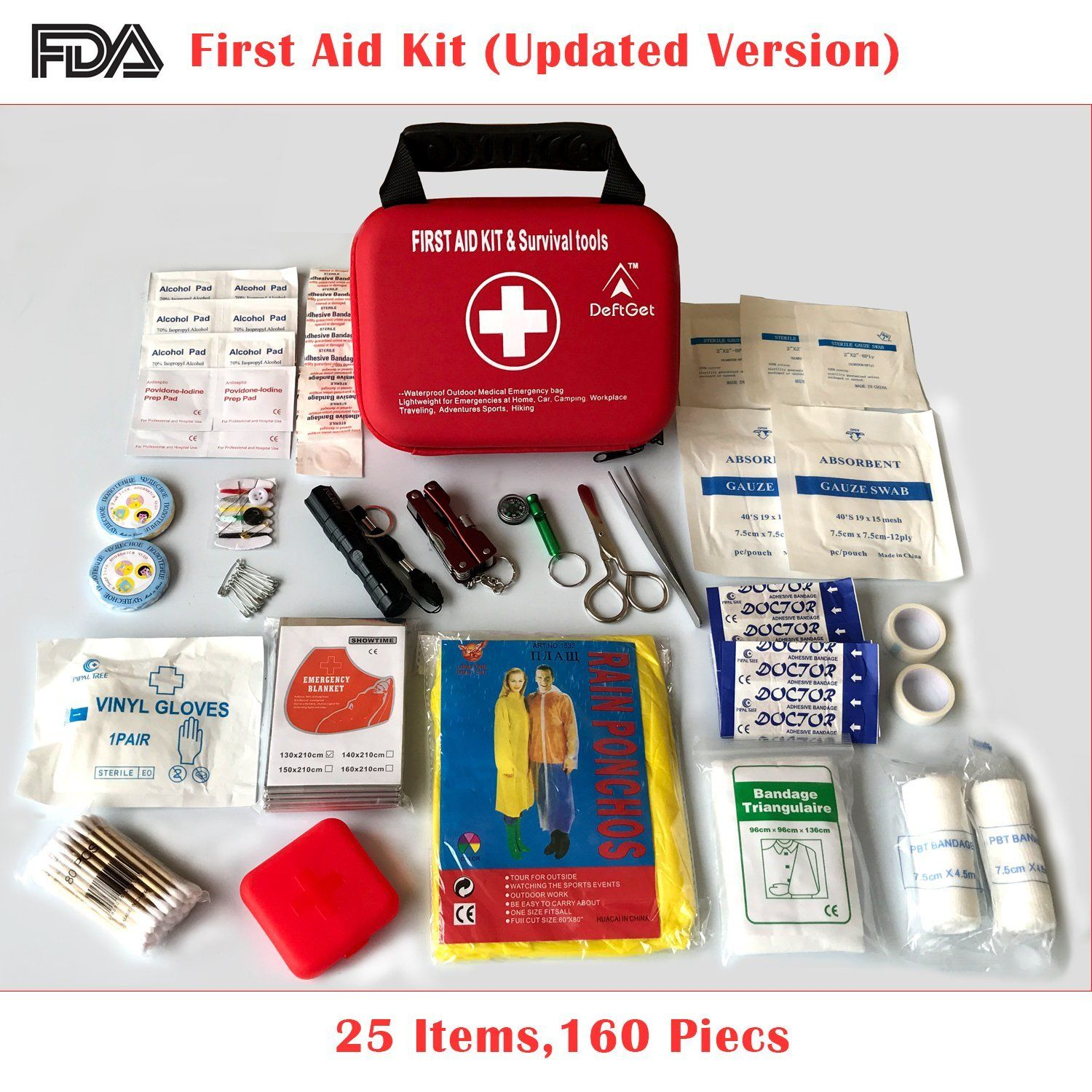 Amazon Com Compact First Aid Kit Mini Survival Tools Box Waterproof Outdoor Medical Emergency Bag Lightweig Emergency Bag First Aid Kit Emergency Medical