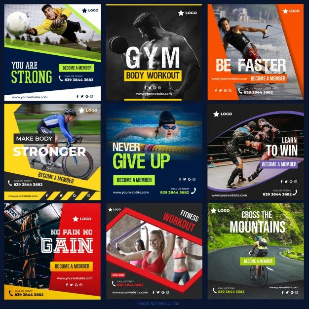 Sports Social Media Post Collection For Digital Ma...