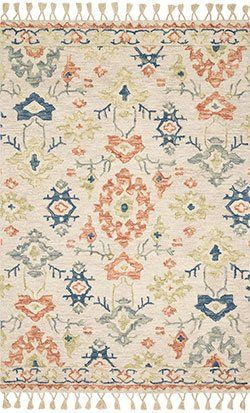 Kasuri KB-05 Ivory/Tuscan Clay Area Rug - Magnolia Home by Joanna Gaines