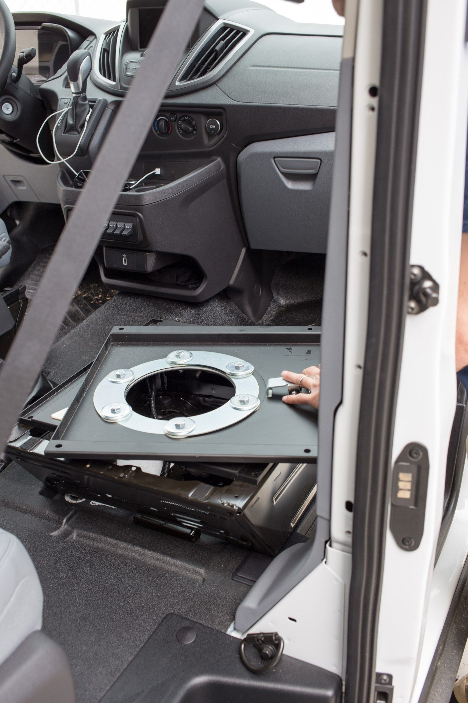 Swivel Seat Install Driver Lowering The E Brake In A Ford Transit