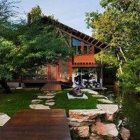 Contemporary Style Lake Austin Cabin Home: love it!