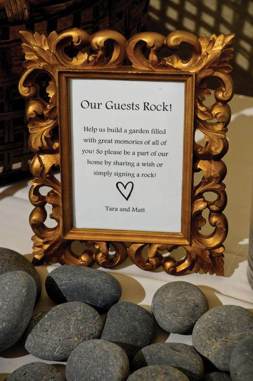 river rock guest book sign google search tracy s rustic wedding