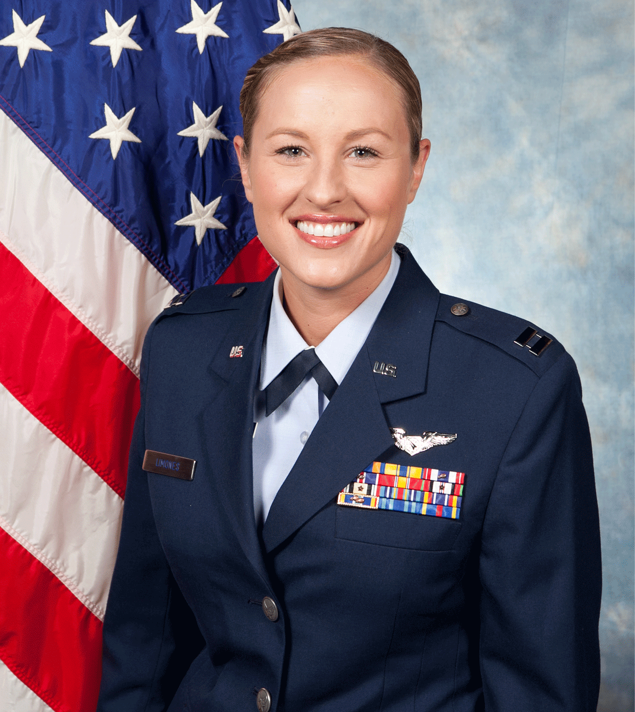 is an Air Force captain and will be seen wearing