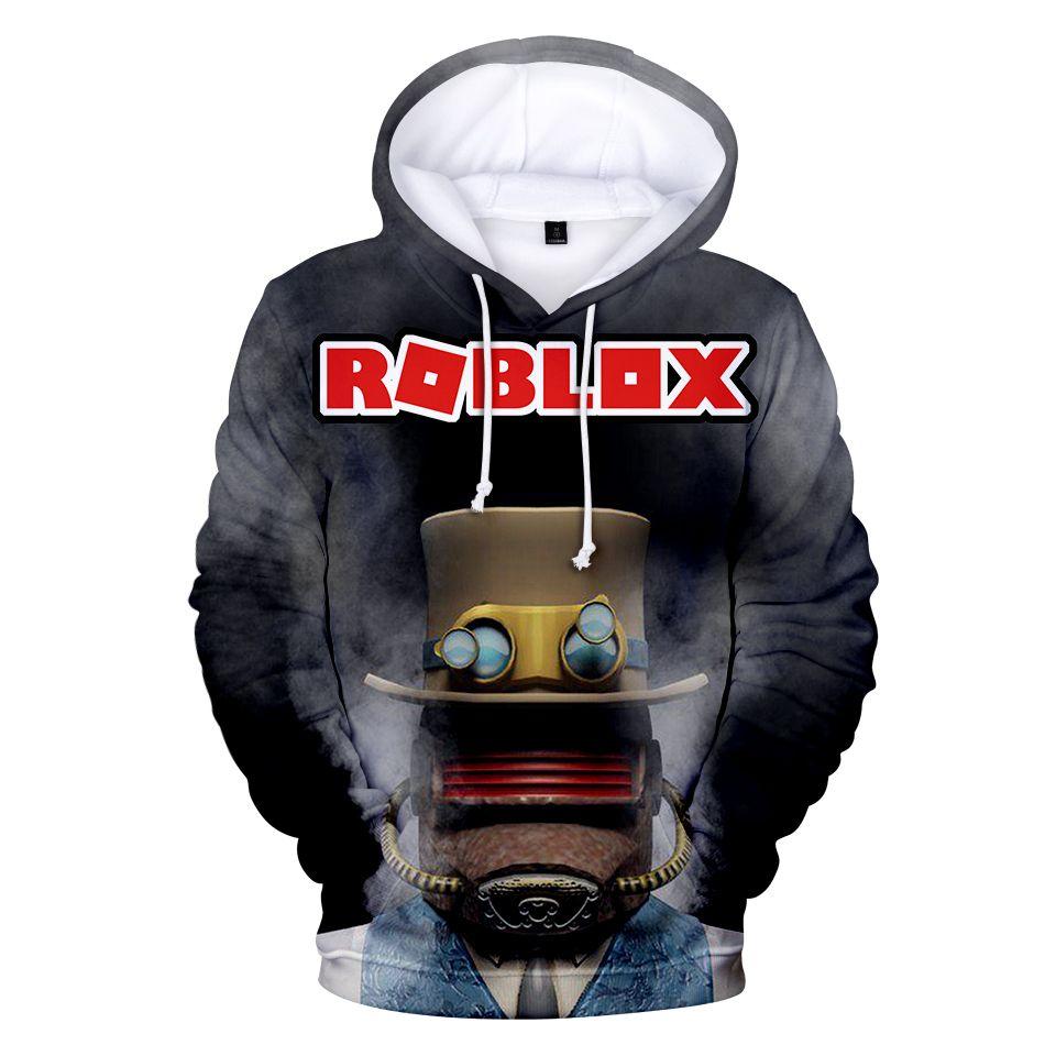 PHENVIVO Roblox Pullover Hoodie Childrens Hooded Sweatshirt Casual Tops Long Sleeve Printing Kids Tops Boys and Girls