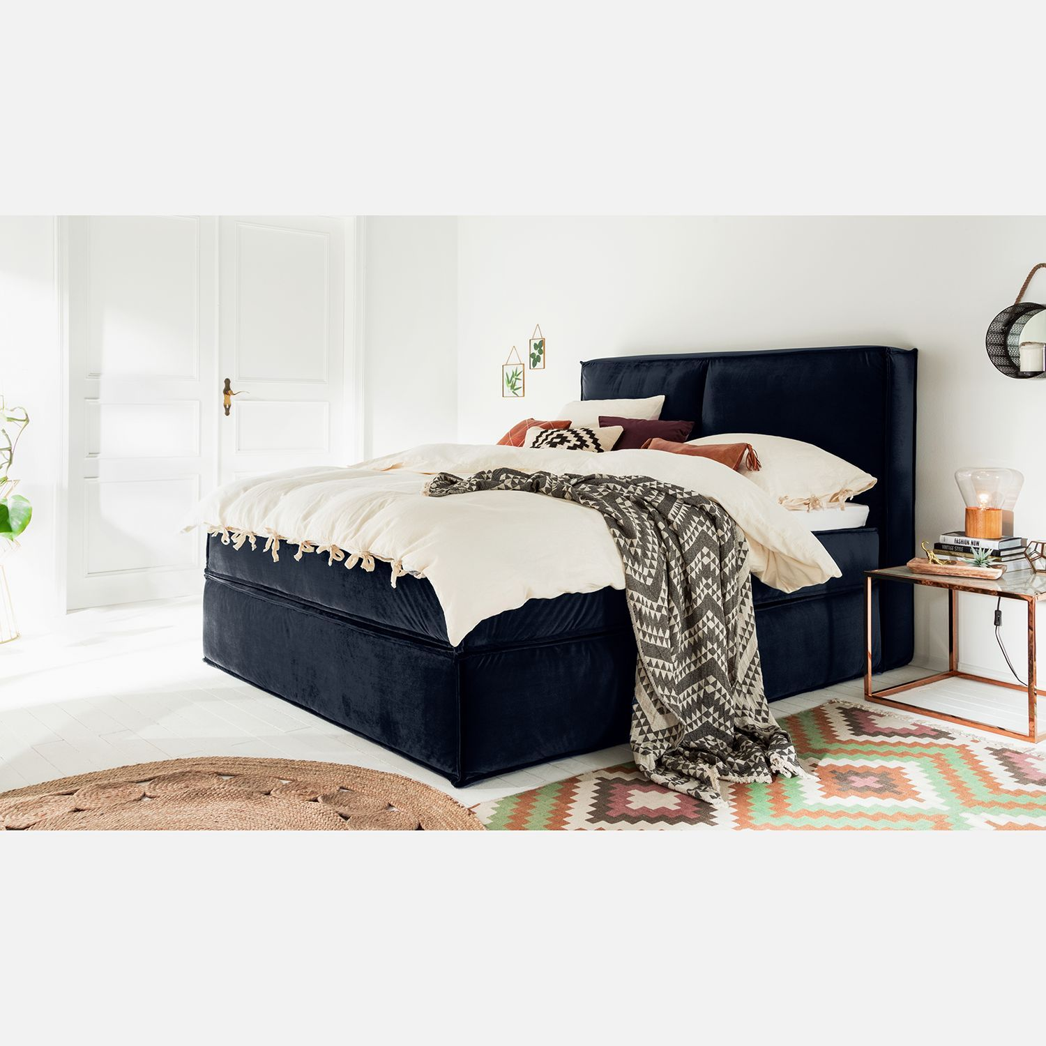 Boxspringbett Bea 180x200 Cm Hellgrau H2 Mit Visco Topper Boxspringbett Kinx In 2019 Budenzauber Bed Home Decor Und
