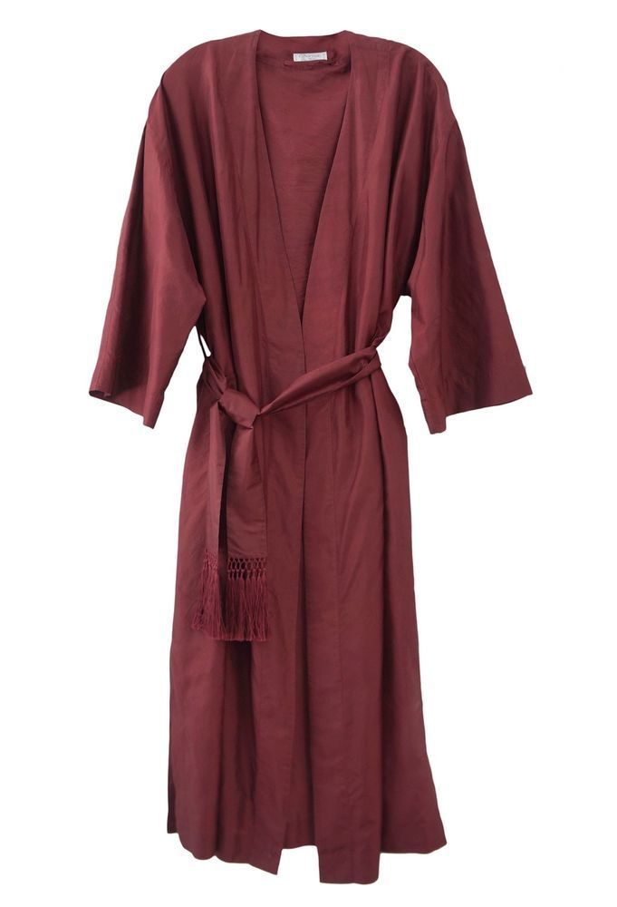 CHARVET Burgundy Red Silk Dressing Gown Robe L | Here are our ...