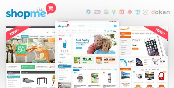 Скачать ShopMe 1.3.1 Woocommerce WordPress Theme Nulled Полная ...