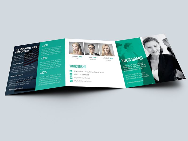 Modern Agency Square Tri Fold Brochure View Live | Trifold ...