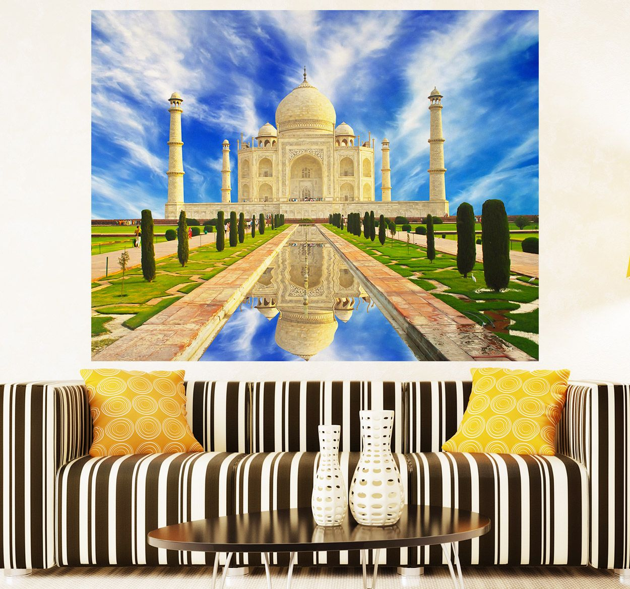 A photo mural wall sticker with a captivating and vibrant shot of ...