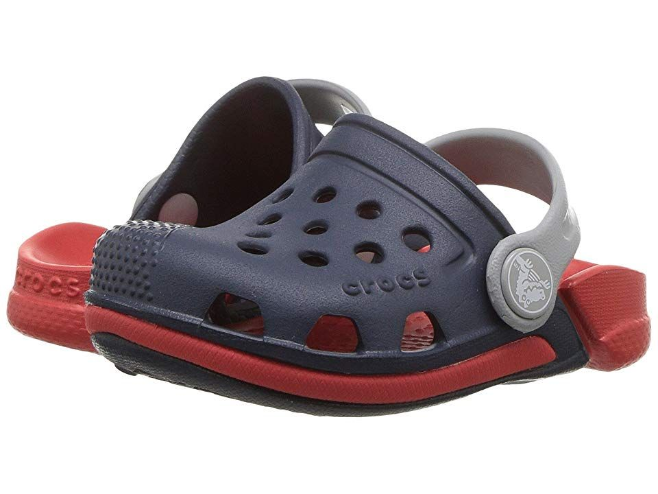 3fce8581f Crocs Kids Electro III Clog (Toddler Little Kid) Kids Shoes Navy Flame