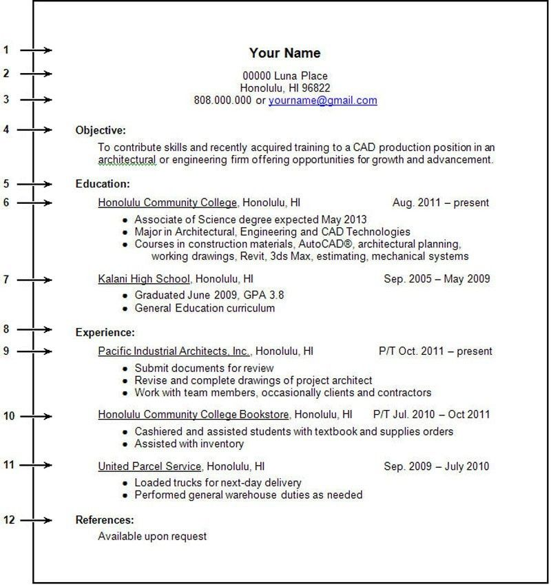 College Student Resume Example Sample - http\/\/wwwjobresume - example of college student resume