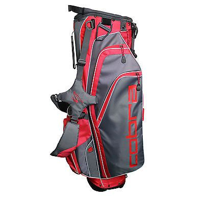 Golf Club Bags 30109: Cobra X Lite Stand Bag Black Gray Red Carry Bag 2015 Closeout Mens New -> BUY IT NOW ONLY: $89.99 on eBay!