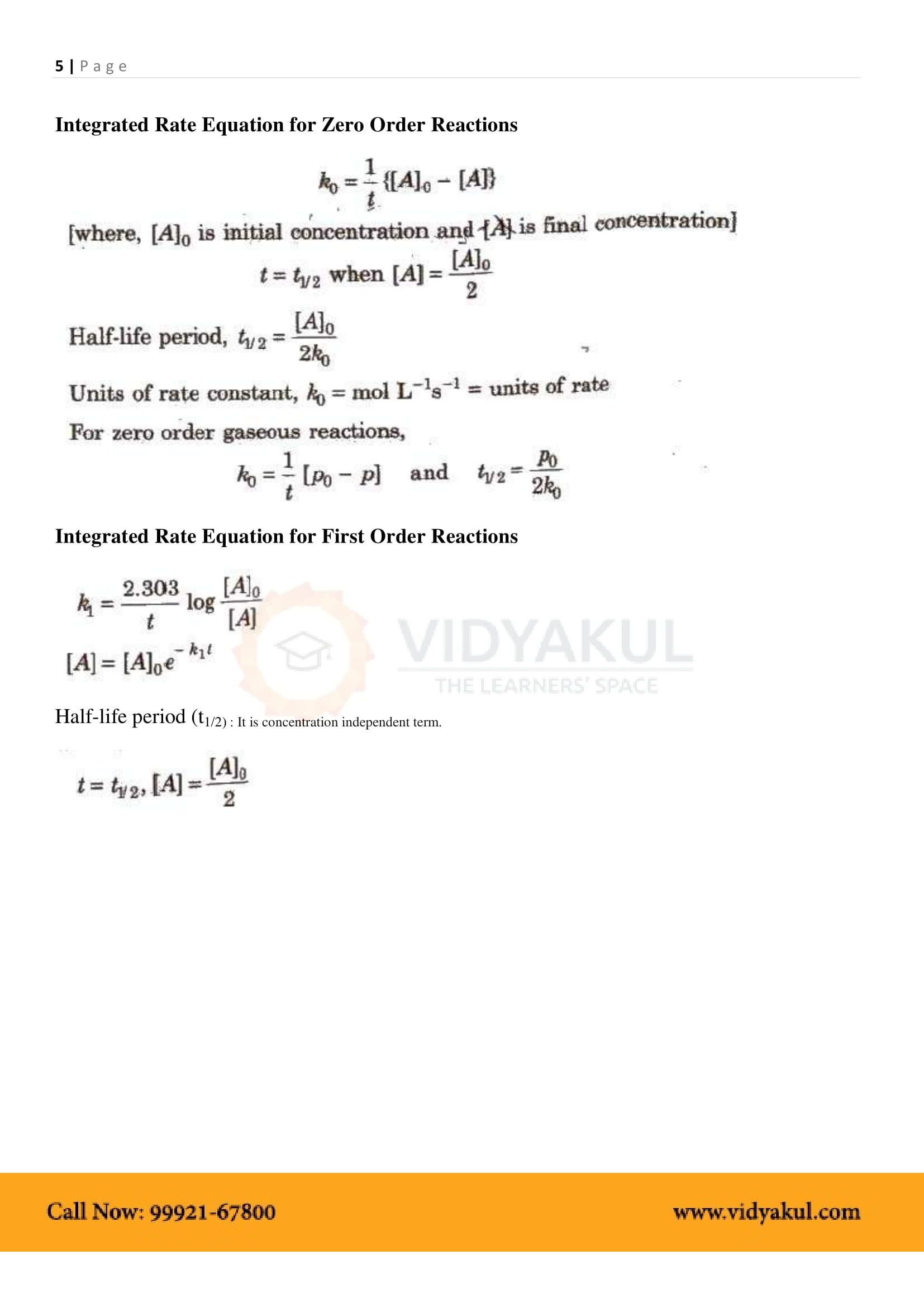 Chemical Kinetics Class 12 Notes Vidyakul With Images